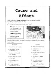 cause and effect essay lessons