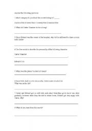 worksheet for the movie called the bucket list