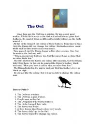 English Worksheets: The Owl