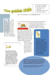 English Worksheets: Reading comprehension: the state of California