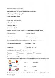 English Worksheets: GENERAL EXERCISES