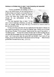 English Worksheets: Communcating with signs