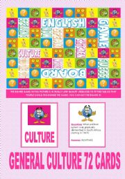 English Worksheets: ||* SPEAKING GAME *|| General Culture 72 cards