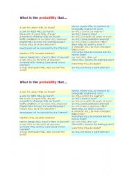 English Worksheet: What is the probability that...