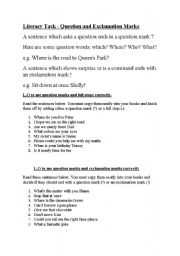 English Worksheets: Using question marks in sentences.