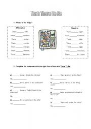 English worksheet: Verb There To Be