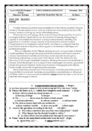 English Worksheets: african problems