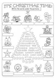 Song gap filling pictionary all i want for christmas esl english worksheet christmas pictionary ibookread Read Online