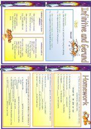 English Worksheet: Infinitive and Gerund