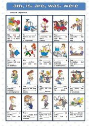 English Worksheet: AM, IS, ARE, WAS & WERE