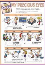 English Worksheets: MY PRECIOUS EYES