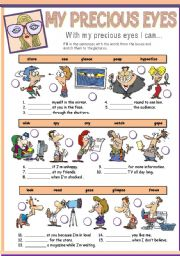 English worksheet: MY PRECIOUS EYES
