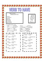 VERB TO HAVE