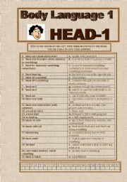 English Worksheets: Body Language