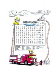 Fire Safety Worksheets Preschool http://www.eslprintables.com/games_worksheets/wordsearch/Fire_Safety_word_search_346963/