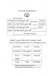 English Worksheets: Cultural differences