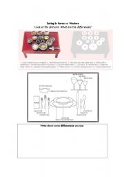 English worksheet: Korea table setting