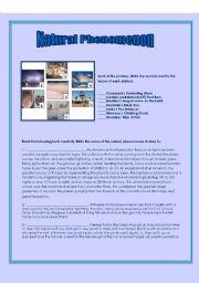 English Worksheets: NATURAL P HENOMENON