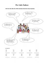 English Worksheet: the little indians