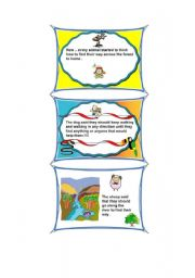 English Worksheets: the four animals in the wood - part 2