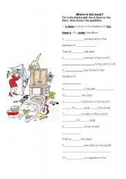 English Worksheets: Is there / Are there?
