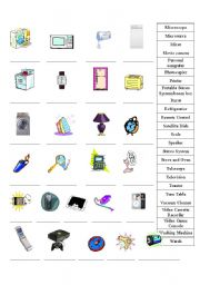 English Worksheet: Machine, Appliances, and Gadget Identification Practice (Page 2)