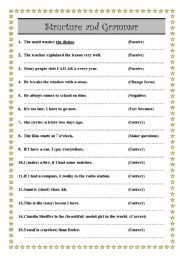 English Worksheets: Do as shown in brackets