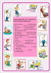 English Worksheets: too vs enough