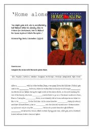 English Worksheets: Home alone worksheet