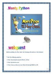 MONTY PYTHON WEBQUEST (n°1) (6 pages, 7 tasks, comprehensive PROJECT & KEY)