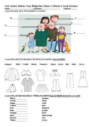 English Worksheet: exam questions for 5 th grade 1 st term in turkey