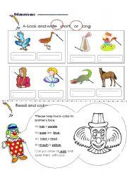 English Worksheets: describe body