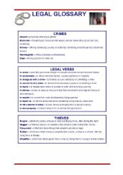 English Worksheets: Legal Language