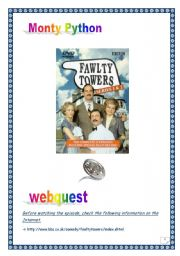 FAWLTY TOWERS WEBQUEST (n°1) (11 pages, 12 tasks, comprehensive PROJECT & KEY)