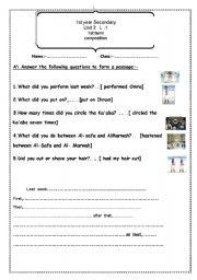 English worksheet: how to do omra