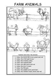 English Worksheets: ANIMALS (FARM ANIMALS)