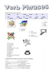 English teaching worksheets: Verbs
