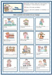 Time  prepositions