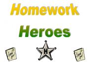 English Worksheet: Homework Heroes Tracking Chart