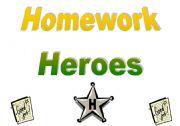 English Worksheet: Homework Heroes Tracking Chart