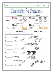 English Worksheet: Demonstrative pronouns