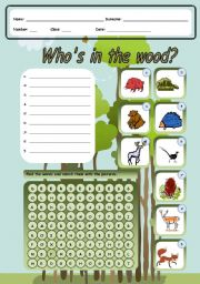 English Worksheets: Who�s in the wood?