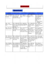 English Worksheet: Game