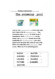 English Worksheet: The swimming pool