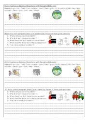 English Worksheets: describe pictures/car accident composition