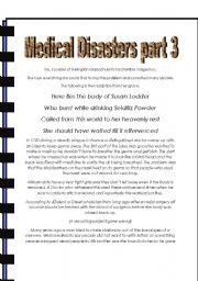 English Worksheet: Medical Disasters part 3