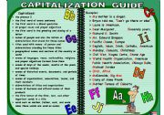 English Worksheet: Capitalization guide plus practice