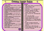 English Worksheet: comma usage
