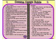 English Worksheet: comma usage