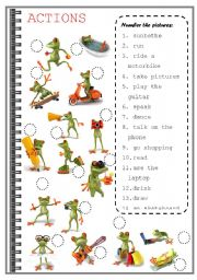 math worksheet : english teaching worksheets action verbs : Action Words Worksheets For Kindergarten